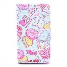 Nokia Lumia 520, 525 kožený obal I Love Ice Cream