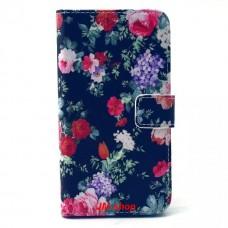 Samsung Galaxy S6 kožený obal Black Flower - SKLADEM