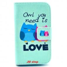 Samsung Galaxy Fame kožený obal Loving Owls