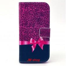 HTC One M9 kožený obal Leopard Bow
