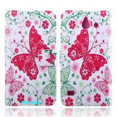 HUAWEI Ascend Y550 kožený obal Butterfly