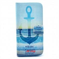 iPhone 6 Plus kožený obal Blue Anchor