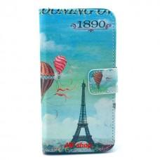 Sony Xperia Z1 Compact kožený obal Blue Eiffel Tower