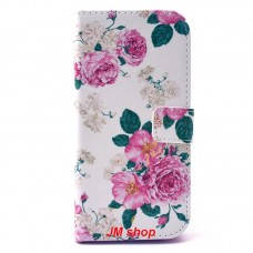 HTC One M9 kožený obal Penoy Flower