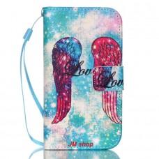 Samsung Galaxy S4 Mini kožený obal Angel Wings