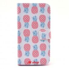 Samsung Galaxy Grand 2 kožený obal Pineapple