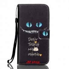Samsung Galaxy S7 Edge kožený obal Don't Touch My Phone
