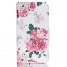 LG Nexus 5X kožený obal Peony Flower