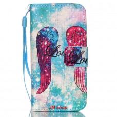 iPhone 5C kožený obal Angel Wings