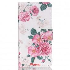 Sony Xperia Z5 Compact kožený obal Penoy Flower