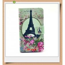Nokia Lumia 520, 525 kožený obal Eiffel Tower Flower