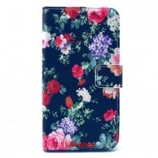 Samsung Galaxy S6 Edge kožený obal Black Floral