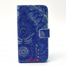 Samsung Galaxy S6 Edge kožený obal Blue Peacock