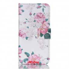 iPod Touch 5th kožený obal Peony Flower