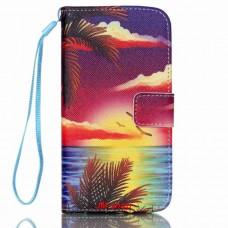 Samsung Galaxy S5 Mini kožený obal Coconut Tree