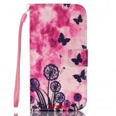 Samsung Galaxy S5 Mini kožený obal Butterfly Dandelions