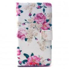 Samsung Galaxy A5 kožený obal Penoy Flower
