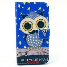 Samsung Galaxy S3 i9300 kožený obal Blue Owl