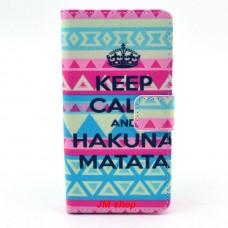 Sony Xperia Z3 Compact kožený obal Keep Calm Matata