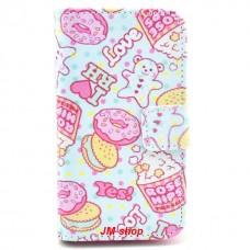 Samsung Galaxy Ace 2 kožený obal Ice Cream