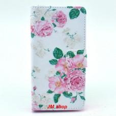 Sony Xperia Z3 Compact kožený obal Penoy Flower