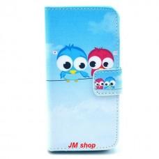 iPhone 5S kožený obal Birds