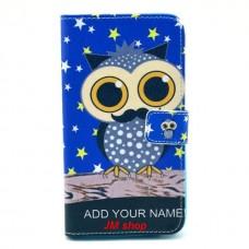 Samsung Galaxy Note 3 kožený obal Blue Owl