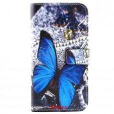 Samsung Galaxy S6 Edge Plus kožený obal Blue Butterfly