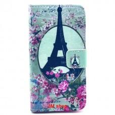 Sony Xperia Z1 Compact kožený obal Eiffel Tower Flower