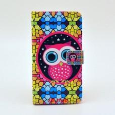 Samsung Galaxy Note 3 kožený obal Colorful Owl - SKLADEM