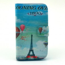 Motorola Moto E kožený obal Eiffel Tower