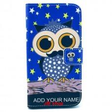 LG G2 kožený obal Blue Owl