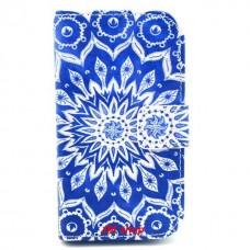 Samsung Galaxy Trend /S Duos kožený obal Blue Star