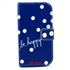 Samsung Galaxy G313 kožený obal Be Happy Flower
