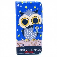 iPhone 6 Plus kožený obal Blue Owl