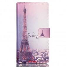 Sony Xperia M4 Aqua kožený obal Eiffel Tower - SKLADEM