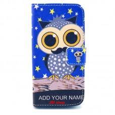 Samsung Galaxy S5 Mini kožený obal Blue Owl
