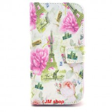 LG G2 kožený obal Eiffel Tower and Flower