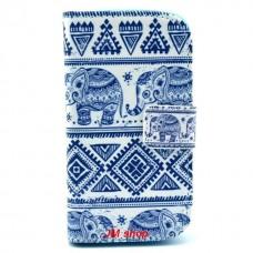 Samsung Galaxy Trend /S Duos kožený obal Cool Elephant