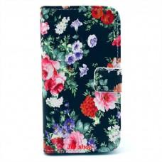 Samsung Galaxy S4 i9500 kožený obal Colorful Flower