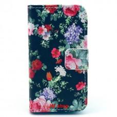 iPhone 4/ 4S kožený obal Beautiful Flower