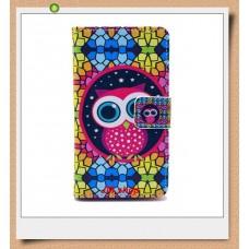 Nokia Lumia 520, 525 kožený obal Colorful Owl