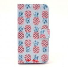 LG G3 kožený obal Pineapple