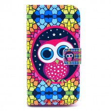 LG G2 kožený obal Colorful Owl
