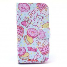 HTC Desire 500 kožený obal Ice Cream