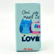 Sony Xperia Z3 Compact kožený obal Loving Owls