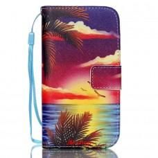 Samsung Galaxy S4 Mini kožený obal Coconut Tree