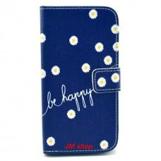 LG G2 kožený obal Be Happy Flower