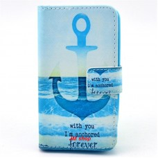 HUAWEI Ascend Y330 kožený obal Blue Anchor