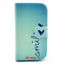 Samsung Galaxy Ace 3 kožený obal Smile - SKLADEM